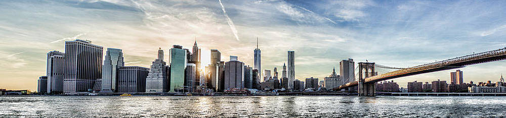 NYC Skyline At Sunset by Zev Steinhardt