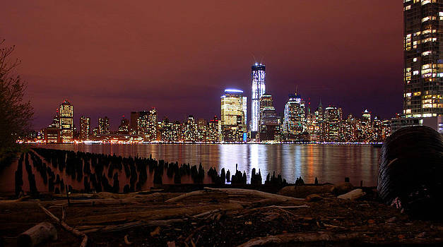 Nyc Skyline in Color  New York City Usa by Shannon Ruvelas