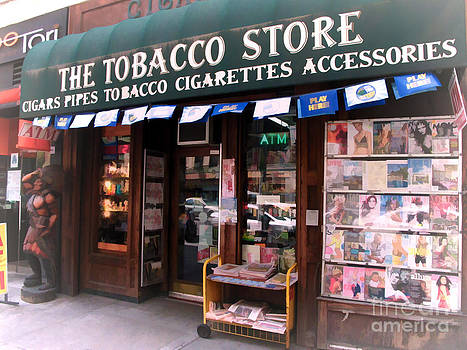 NYC Tobacco Store with Indian Statue by Anne Ferguson