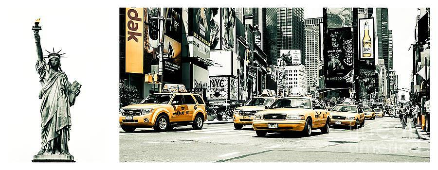 Hannes Cmarits - NYC Yellow Cabs and Lady Liberty -  ck1