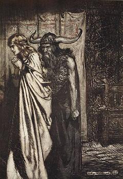 Arthur Rackham - O Wife Betrayed I Will Avenge