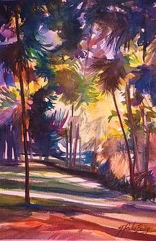 Oahu Palms by Therese Fowler-Bailey