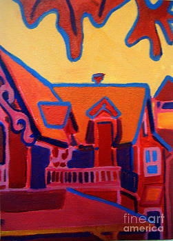 Oak Bluffs in Red by Debra Bretton Robinson