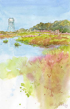 Oak Island Marsh View by Leslie Fehling