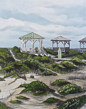 Oak Island Surf by Michelle Young