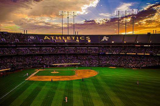 Oakland Coliseum Sunset by Brandon McClintock