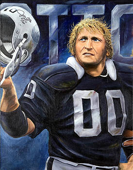 Oakland Raider Jim Otto by Angie Villegas