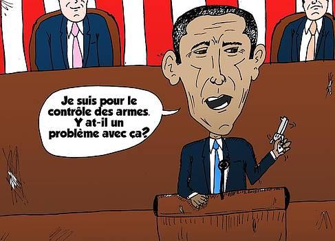 Obama caricature des armes et emplois gouvernemental by OptionsClick BlogArt
