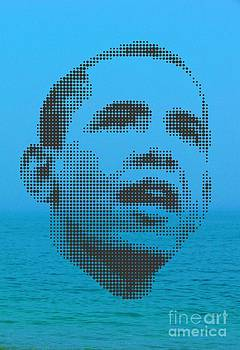 Obama On Ocean by Rodolfo Vicente