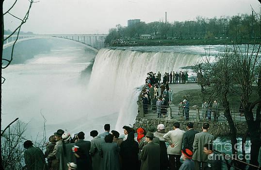 California Views Mr Pat Hathaway Archives - Observation point at Niagara Falls and Rainbow Bridge New York circa 1957