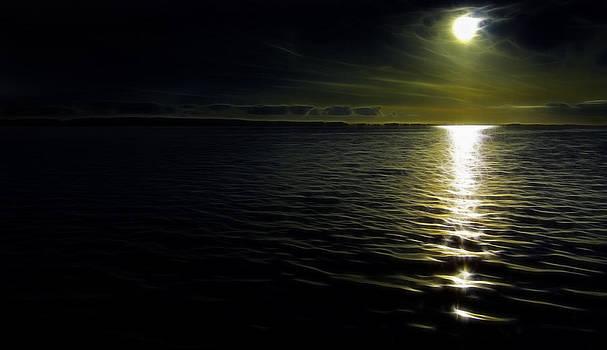 Ocean at night by Henrik Petersen