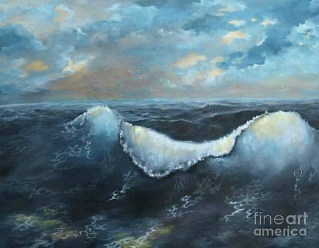 Ocean at sunset by Patricia Lang