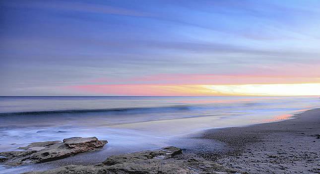Ocean Blue Sunrise Sunset by Jo Ann Tomaselli