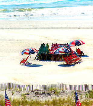 Ocean City NJ Stars and Stripes by Beth Ferris Sale