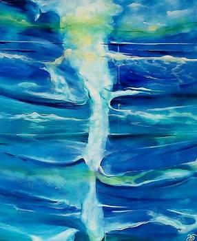 Ocean Currents.Cape Reinga.1 by Chris Keenan