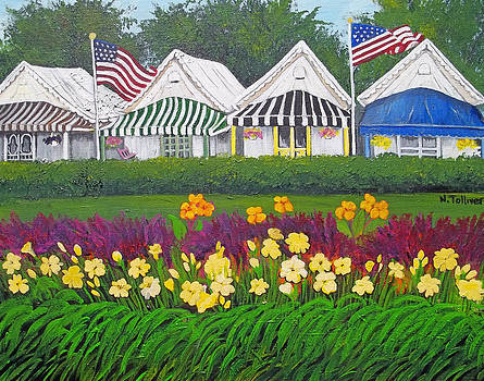 Ocean Grove Tents by Norma Tolliver