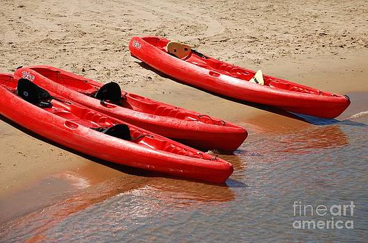 Ocean Kayak at Shore by Claudia Ellis
