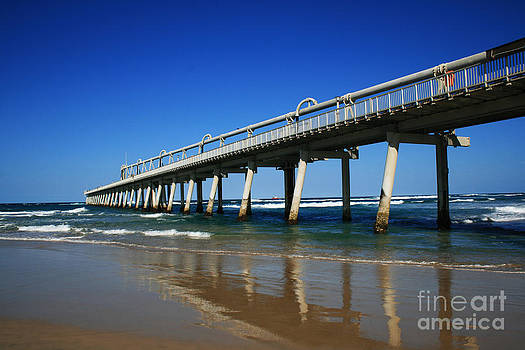 Ocean Pier Reflection  by Sarah Sutherland