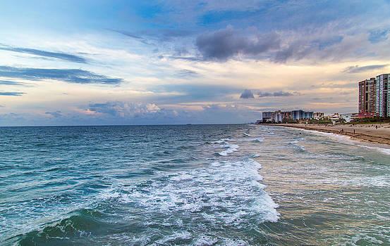 Ocean Shoreline by Andrea  OConnell