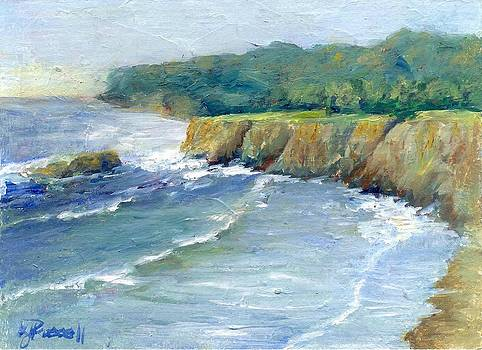 Ocean Surf Colorful Original Seascape Painting by Elizabeth Sawyer