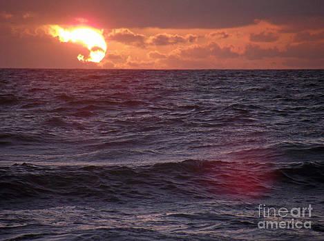 Ocean Waves at Sunrise by Virginia Zuelsdorf