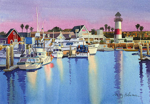 Oceanside Harbor at Dusk by Mary Helmreich