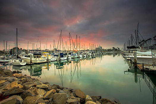 Oceanside Harbor Sunrise by Robert  Aycock