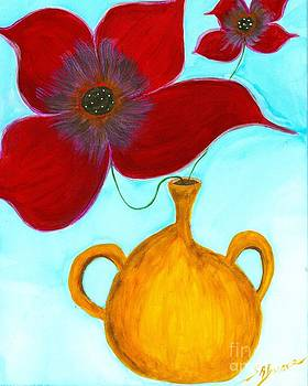 Ocher Vase by Shirley Barone
