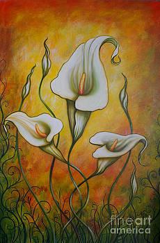 Ochre Arums by Nicole O'Connor