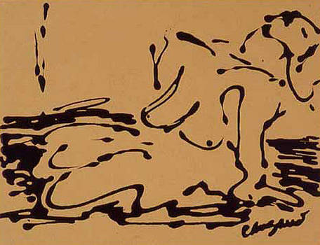 Ochre nude by Pamela Canzano