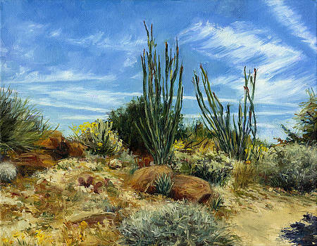 Stacy Vosberg - Ocotillos and red rocks