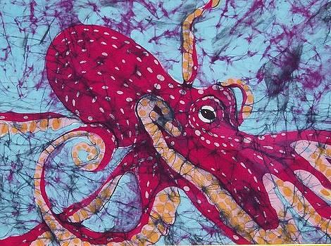 Octopus Fine Art Batik by Kay Shaffer