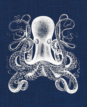 Octopus Nautical Print by Jaime Friedman