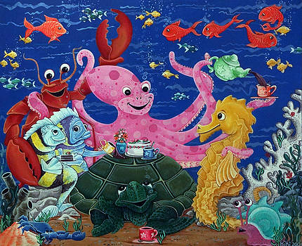 Octopus' Teaparty by Thome Designs