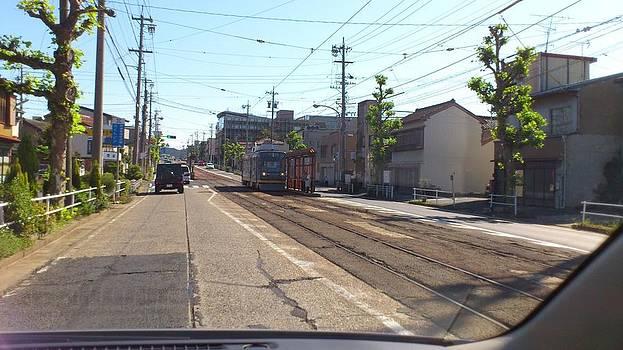 Of streetcar Toyohashi Railroad by Yoshikazu Yamaguchi