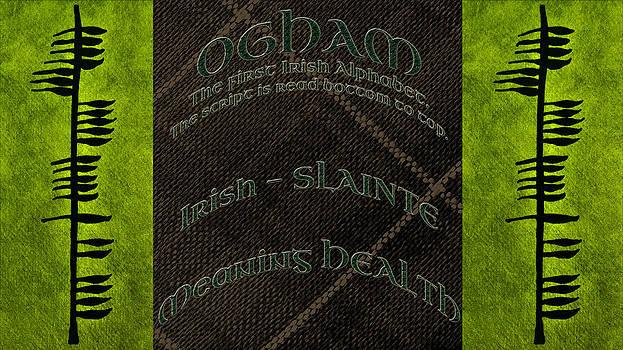 LeeAnn McLaneGoetz McLaneGoetzStudioLLCcom - OGHAM Ancient Irish Text for Health