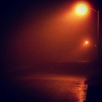Oh #foggy #night. #fog #night by Brian Harris