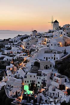 George Atsametakis - Oia town during sunset