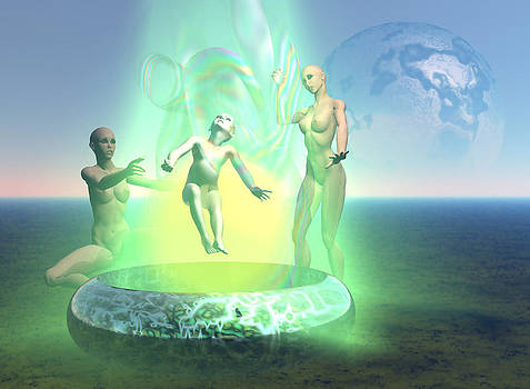 Oil Child- Abduction to Tori Located in Pleiades by Stephen Donoho
