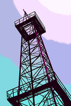 Art Block Collections - Oil Derrick in Blue