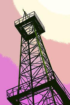 Art Block Collections - Oil Derrick in Pink