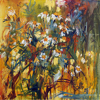 Oil Painting Chamomile by Ginette Callaway