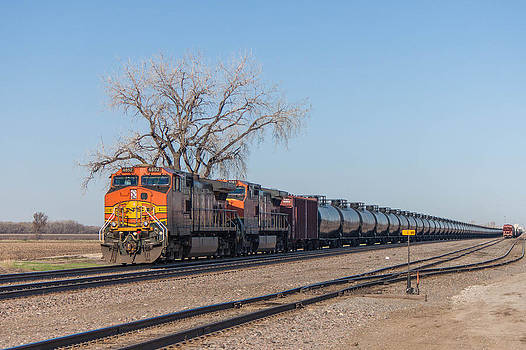 BNSF Oil Train in Dilworth Minnesota by Steve Boyko