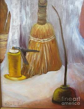 OIls Cans and Whisk Broom by Barbara Haviland by Barbara Haviland