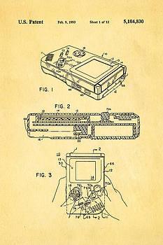Ian Monk - Okada Nintendo Gameboy 2 Patent Art 1993