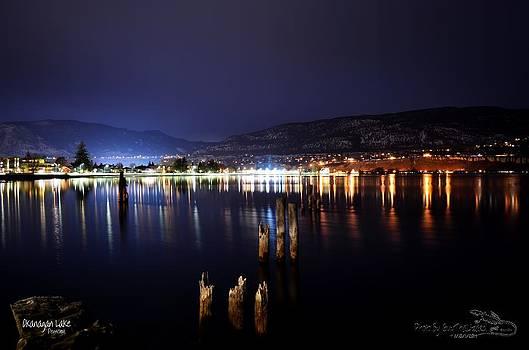 Guy Hoffman - Okanagan Lake at Night