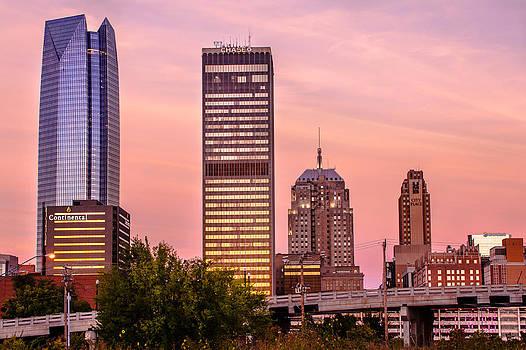 Oklahoma City Downtown Skyline at sunrise by Gregory Ballos