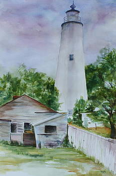 Okracoke Lighthouse  by Jane Getty
