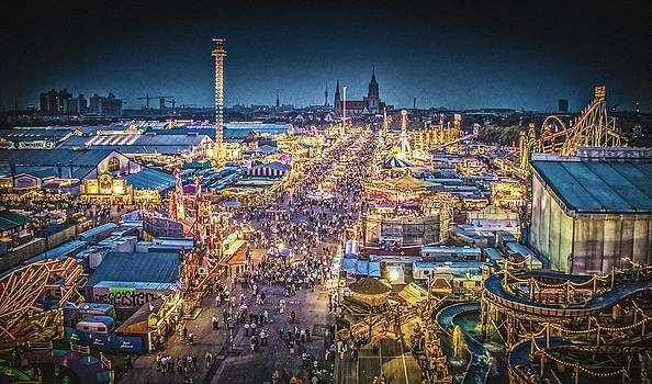 Oktoberfest At Night by Bjoern Kindler