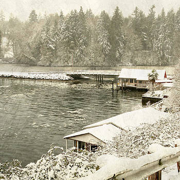 Olalla Bridge in Snow by Sally Banfill
